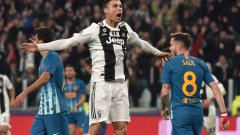 Роналдо за кой ли път доказа, че Шампионската лига е неговият турнир и с три гола класира Юве за следващата фаза