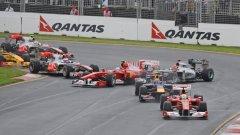 Алонсо и Шумахер изостанаха още в първия завой след старта