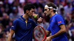 Легендарните тенисисти взеха първия сет, но допуснаха обрат