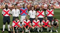 Преди първия мач на Евро 2004 срещу Швейцария. Вижте какви футболисти имаше Англия...