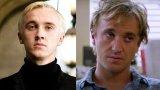 """Том Фелтън (вдясно в последния си филм) не успя да се измъкне от сянката на най-известната си роля - тази на злодея Драко Малфой от поредицата """"Хари Потър"""" (вляво)."""