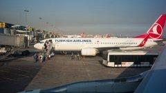 """Съмнителна бележка с надпис """"бомба"""" е намерена на борда на Airbus на Turkish Airlines"""