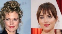 Мелани Грифит и Дакота Джонсън  Същите устни, очи и нос - младата актриса е копие на майка си