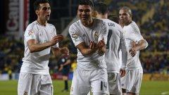 """Каземиро вкара първия си гол за Реал, след като пристигна на """"Бернабеу"""" през 2013-а"""