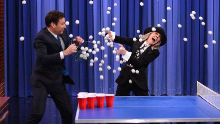 Една особена игра на пинг-понг с Даян Кийтън