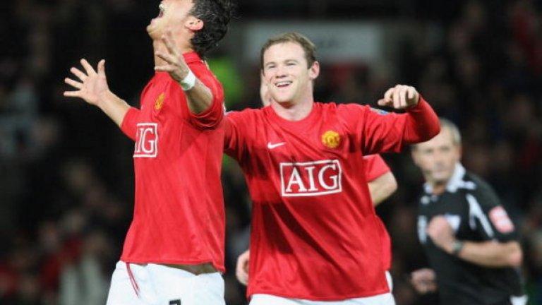 """Като играч на Манчестър Юнайтед, Роналдо записа 14 гола в 11 мача между декември и януари 2007/08 г. Това беше най-резултатният му сезон на """"Олд Трафорд"""" с общо 42 гола."""