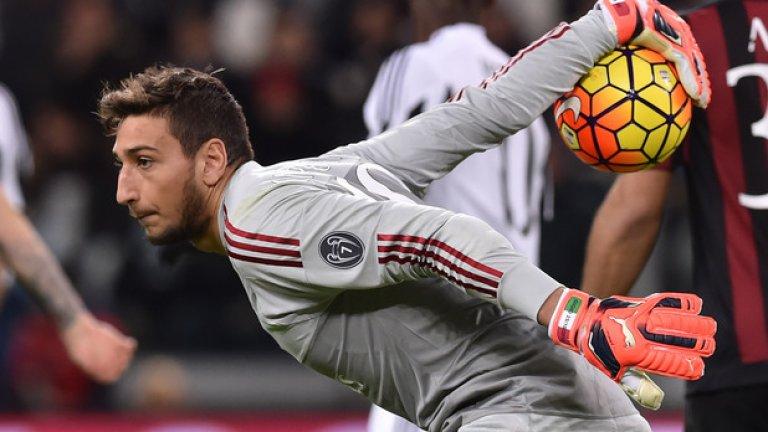 """Джанлуиджи Донарума, Милан, 17 години На 17 се наложи като първи вратар на италианския гранд Милан. Талантът влезе в историята и като най-младият вратар, дебютирал в Серия """"А"""", на крехката възраст от 16 години и 8 месеца. Отличава се с отличен рефлекс и добро позициониране при центриранията."""