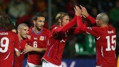 Милан Барош (вдясно) се отказа от представителния тим на Чехия след 93 мача и 41 гола
