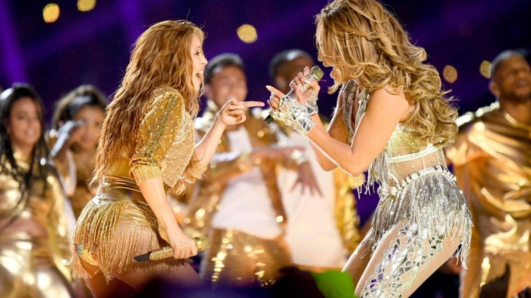 Бурното латино шоу на Шакира и Джей Ло на Супербоул