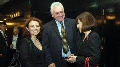 Новият генерален директор на БНТ Вяра Анкова и съпругът Томас Лафчис...