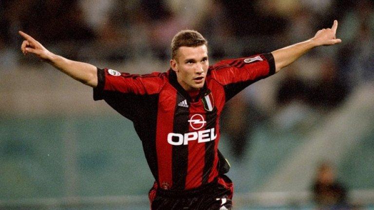 1. Андрий Шевченко (50 гола в 69 мача)  Легендата на Милан беше точен 29 пъти още в първия си сезон в Италия. За 7 г. в Милано украинецът стана реализатор номер 2 в историята на клуба, единствено зад шведа Гунар Нордал, и завърши със 175 гола в 296 мача. Това беше славен период в историята на Милан, украсен и с триумф в Шампионската лига през 2003-а.
