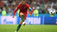Какво говори Кристиано на топката преди пряк свободен удар? (видео)