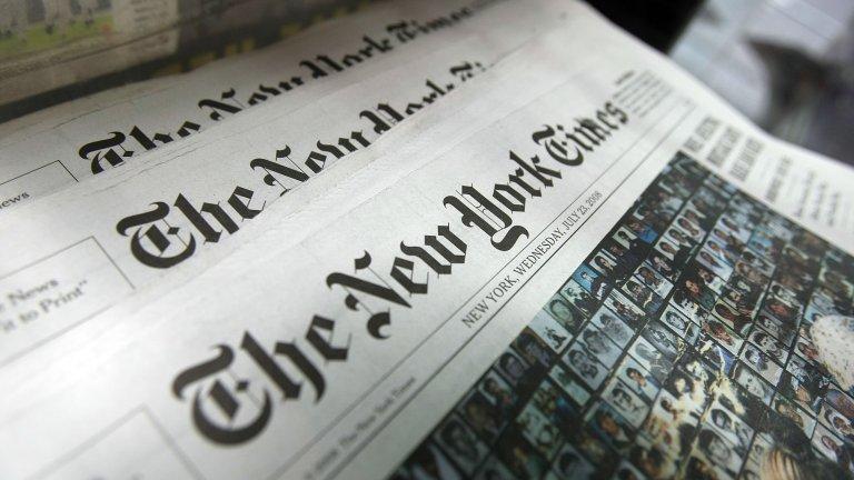 """""""Ню Йорк Таймс"""" почете паметта на починалите от COVID-19 с имената им на първа страница"""