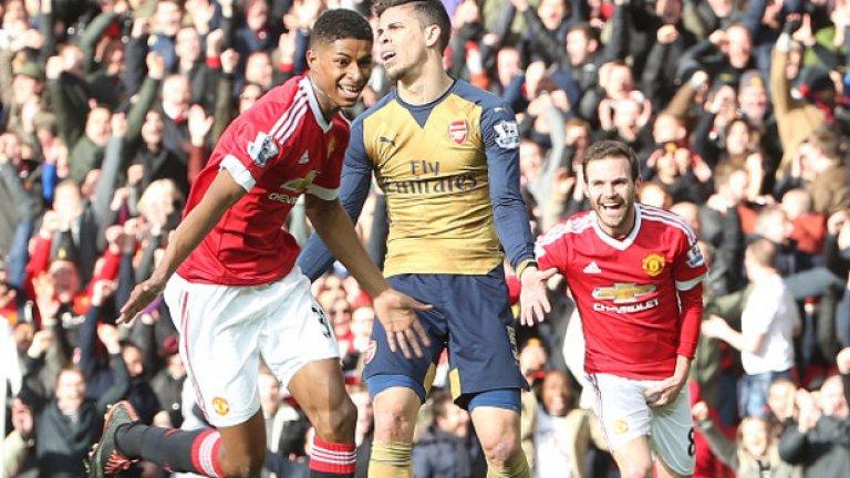 """Събота, 19 ноември: 14:30 часа: Манчестър Юнайтед – Арсенал Супер футболният уикенд започва със сблъсъка между Юнайтед и Арсенал. """"Червените дяволи"""" спечелиха последното дерби, но от 2010-а, когато Юнайтед записа дубъл във Висшата лига, нито един от двата тима не е успявал да запише две последователни победи. """"Артилеристите"""" се намират в по-добра форма и имат шест точки аванс пред тима на Жозе Моуриньо в класирането, но в подобни дербита формата рядко има голямо значение. С нетърпение очакваме и сблъсъка на думи Моуриньо-Венгер преди, по време и след самия мач."""