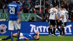 """Последната среща помежду им завърши с разгром за тима на Йоги Льов с 4:1. Сега Германия отново е фаворит с 2,25 за победа. Хиксът е оценен на 3, а победата за Италия – на 4. Да се класира: 1,53 за Бундестима срещу 2,50 за """"адзурите"""". Но ние мислим, че шансовете на Италия всъщност са малко по-добри. Ето защо..."""