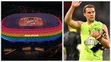 """Обяснено: Защо УЕФА забрани """"Алианц Арена"""" да свети в цветовете на дъгата, но не наказа Нойер за шарената лента"""