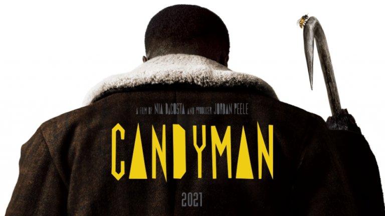 """""""Кендимен"""" (Candyman) Премиера: 27 август Къде: в кината  Предложение номер 2 за любителите на хоръра е вдъхновено от част от творбите на писателя Клайв Баркър. Новият """"Кендимен"""" предлага съвременен поглед към градската легенда за свръхестествен убиец с кука вместо ръка и кървавата съдба на онези, които се осмелят да произнесат името му пет пъти пред огледалото.   Историята се фокусира върху Антъни - художник със западаща кариера, който започва да изследва легендата за Кендимен и да черпи от нея вдъхновение за картините си, без да подозира опасните последствия от това."""