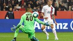 Анхел Ди Мария има четири гола от началото на сезона в Лига 1