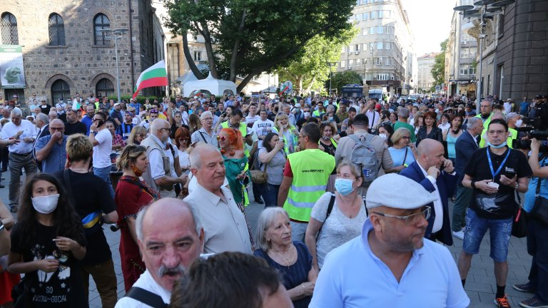 Протест в подкрепа на президента. Радев: Мафията вън