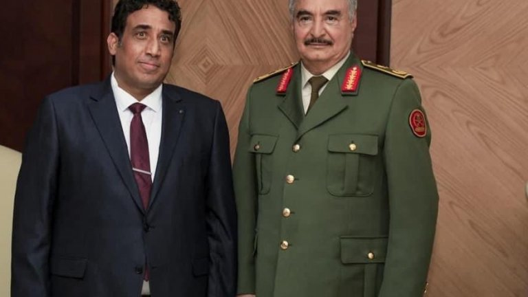 Мохамед ал-Менфи и ген. Хафтар