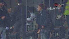 """Скандалът в ложата на """"Лудогорец Арена"""" заглуши дори поредното пожалване на Моци"""