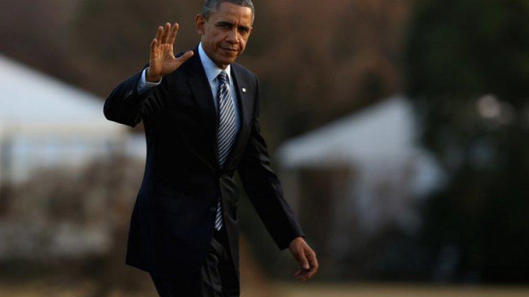 Обама е на посещение в Германия