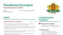 Как изглежда CV-то на България?