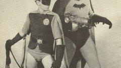"Люис Уилсън и Дъглас Крофт като Батман и Робин в сериала ""Батман"" (1943)"