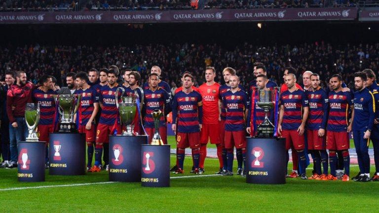 """Спечели пет трофея още в първата си година на """"Камп Ноу"""", като през този сезон Барселона също е в полпозишън за всички големи купи"""