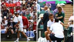 Александър Долгополов (вляво) и Мартин Клижан си тръгнаха безславно от Уимблъдън 2017 с по $45 000 печалба, но оставиха неприятен вкус за феновете на тениса
