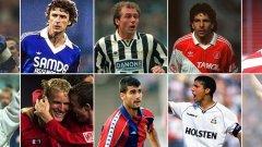 Някои от мениджърите са с невероятни визитки от дните си като футболисти, а други са с доста скромни постижения на терена. Вижте в галерията.