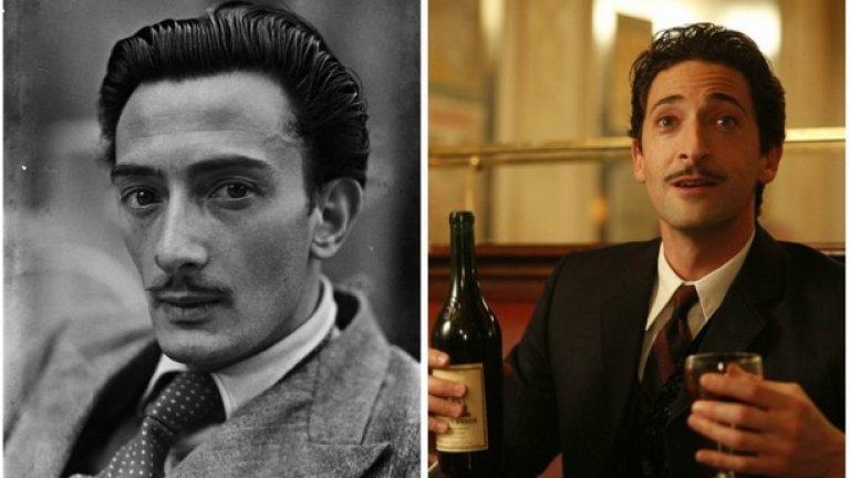 """Салвадор Дали и Ейдриън Броуди, """"Полунощ в Париж""""  След като стана най-младият актьор с """"Оскар"""" за главна мъжка роля в """"Пианистът"""", Броуди се развихри като Салвадор Дали в """"Полунощ в Париж"""" на Уди Алън."""