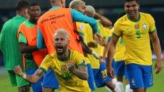 Гол в 100-тната минута донесе фамозен обрат за Бразилия (видео)