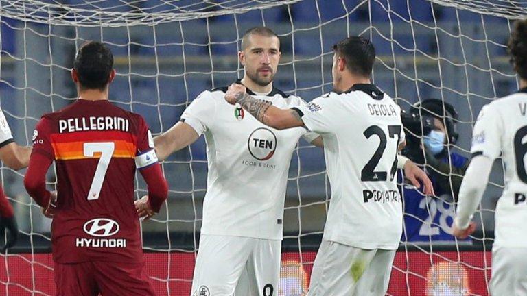 Гълъбинов с нов силен мач срещу Рома