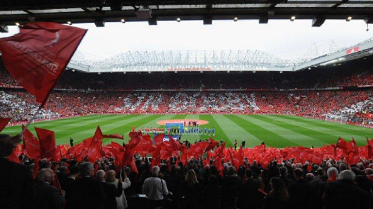 4. Манчестър Юнайтед - 74 474 средно на мач