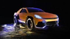 Една концепция за електромобил, който среща Tesla Cybertruck с Cayenne