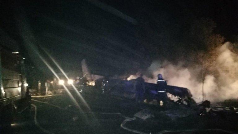 Самолет с курсанти на борда си се разби в Украйна