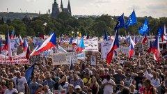 Това е поредният голям антиправителствен протест в Чехия
