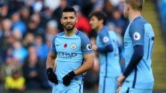 В отсъствието на контузения Габриел Жезус, атаката на Манчестър Сити ще бъде водена от Серхио Агуеро