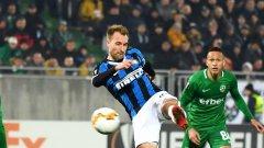 Ериксен отбеляза първия си гол за Интер, докато Лудогорец разочарова в предни позиции