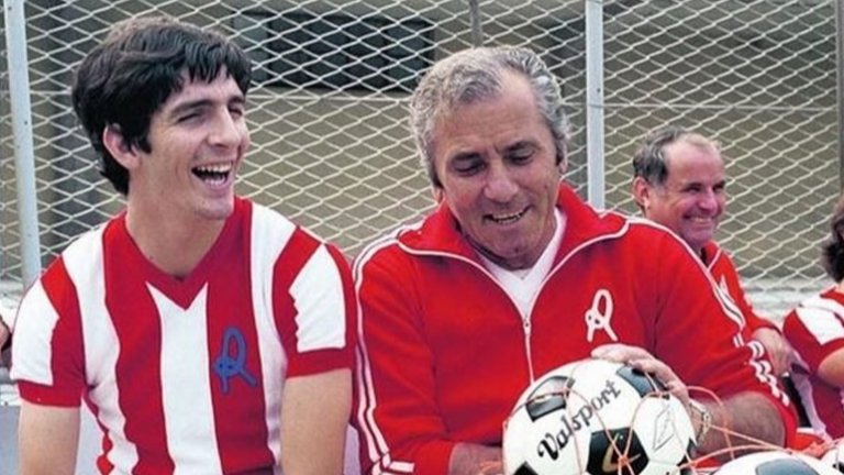 Роси и треньорът на Виченца Джузепе Фабри