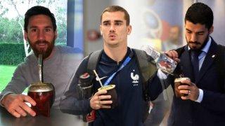 Три от звездите на съвременния футбол с калабас в ръка.