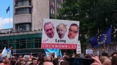 Хиляди протестираха в британската столица срещу резултата от референдума за излизане от ЕС