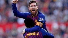 Лео Меси заби хеттрик за обрата 3:2 срещу Севиля