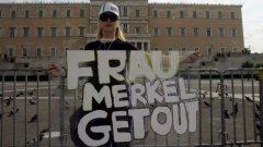 Ангела Меркел също бе център на недоволство в масовите протести в Атина