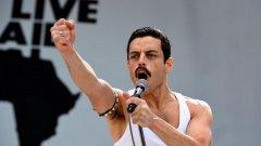 """В категорията за най-добър филм (драма) номинираните са:  """"Bohemian Rhapsody"""" (Бохемска рапсодия)  Биографичният филм е посветен на вокалиста на бандата Queen - легендарния Фреди Меркюри (Рами Малек). Проследява създаването на бандата, върховете и спадовете в живота на Фреди, като всичко това е гарнирано с прекрасна музика."""
