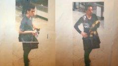 Кадри от камерите на летището в Куала Лумпур на двамата иранци с фалшиви паспорти.