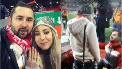 """Невероятен момент: Българин предложи на приятелката си на """"Анфийлд"""" (видео)"""