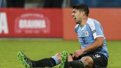 Луис Суарес отбеляза 58-ия си гол с националната фланелка