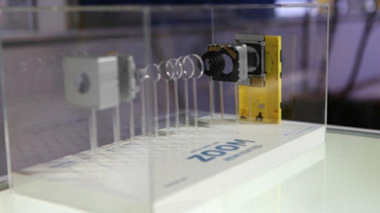 5. Камерата Що се отнася до модерните им телефони, компанията успя да извади наистина най-добрите камери на пазара. На снимката е показана структурата на 41-мегапикселовата камера на Lumia 1020, една от причините Microsoft да ги купи.